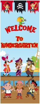 "Jake Pirate Welcome to Kindergarten Door 36""x93"""