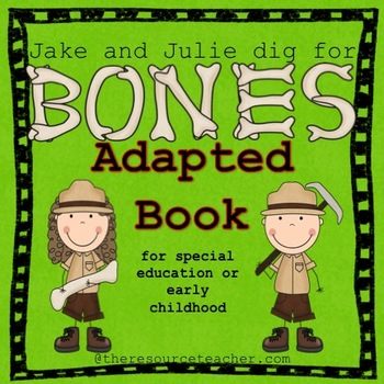 "Adapted Book ""Jake and Julie Dig for Bones"" with comprehension check"