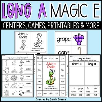 Jake the Snake {long a, magic e activity pack!}
