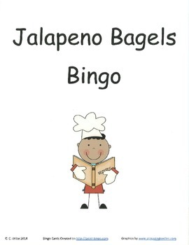 Jalapeno Bagels Bingo Game ~ Language Arts Activity