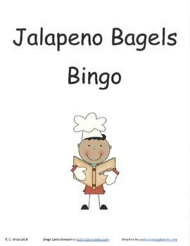 Jalapeno Bagels Bingo Game ~ Language Arts Activity