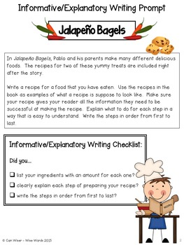 Jalapeno Bagels by Natasha Wing - Common Core Pack