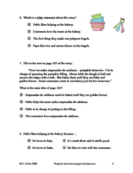 Jalapeno Bagels ~ Reading Comprehension Test/Quiz ~ Houghton Mifflin®