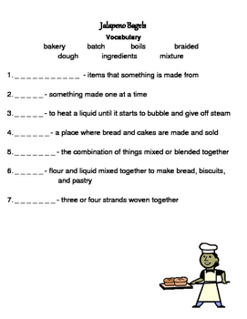 Jalapeno Bagels Reading Street Vocabulary