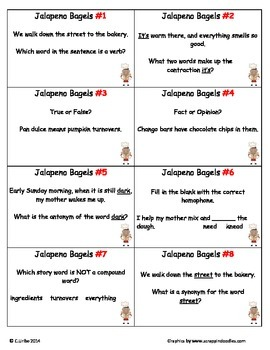Jalapeno Bagels ~ Scoot Game ~ Language Arts ~ Task Cards