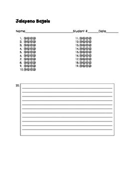 Jalapeno Bagels Test