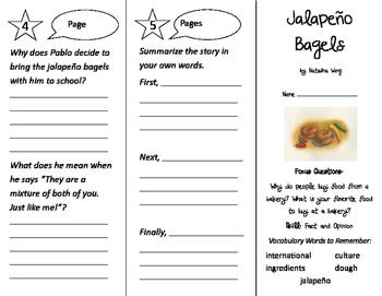 Jalapeno Bagels Trifold - Imagine It 2nd Grade Unit 3 Week 3