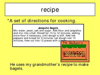 Jalapeno Bagels Vocabulary Houghton Mifflin Series