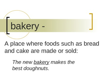 """""""Jalapeno Bagels"""" Vocabulary PowerPoint"""