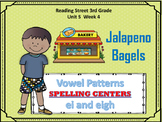 Jalapeno Bagels : Vowel Patterns ei & eigh  SPELLING CENTERS  : Reading Street