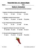Jalapeno Bagels ~ Weekly Theme Skills Test