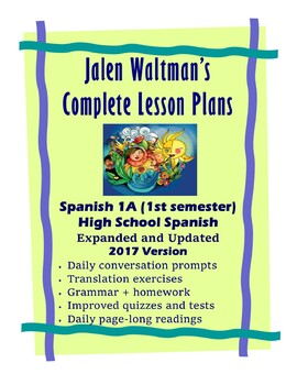 Jalen Waltman's Spanish 1A 2017 First Day - Lesson 17 Bundle