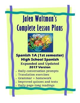 Jalen Waltman's Spanish 1A 2017 Lesson 18 - Lesson 30 Bundle