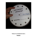 Jam Berapa - Spinning clock