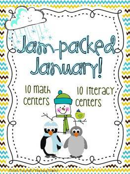 January Math and Literacy Centers Bundle