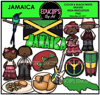 Jamaica Clip Art Bundle {Educlips Clipart}