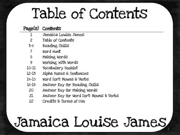 Jamaica Louise James 2nd Grade - Harcourt Storytown Lesson 11