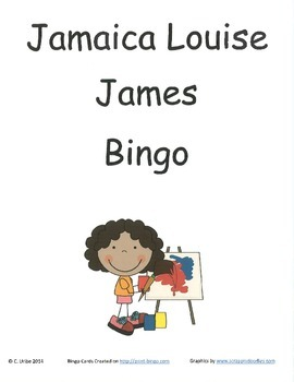 Jamaica Louise James Bingo Game ~ Language Arts Activity