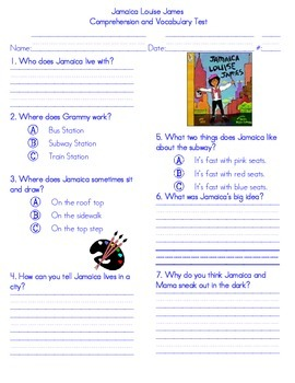 Jamaica Louise James Comprehension Test