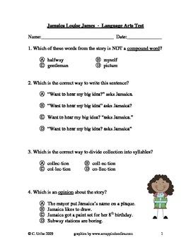 Jamaica Louise James ~ Language Arts Test/Quiz ~ Houghton Mifflin®