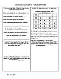 Jamaica Louise James ~ Math Activity Sheets ~ Houghton Mifflin®