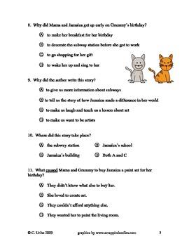 Jamaica Louise James ~ Reading Comprehension/Vocabulary Test/Quiz