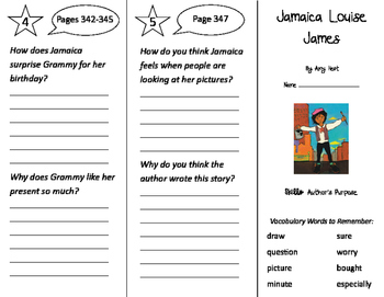Jamaica Louise James Trifold - Storytown 2nd Grade Unit 3 Week 1
