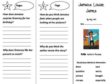 Jamaica Louise James Trifold - Storytown 2nd Grade Unit 3 Week 1