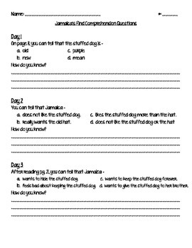 Jamaica's Find Questions, Test and Writing Activity