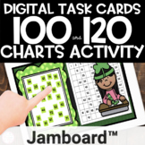 Jamboard™ | 100 and 120 Chart Place Value | St. Patrick's