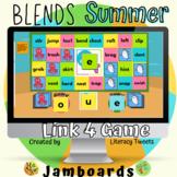 Jamboard™: Summer / Beach Blends Activities | Link 4 Game