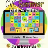 Jamboard™: Summer / Beach CVC Activities | Link 4 Game
