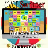Jamboard™: Summer / Beach CVCE Activities | Link 4 Game