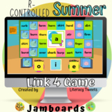 Jamboard™: Summer / Beach R-Controlled Activities | Link 4 Game
