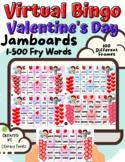 Jamboard™: Virtual Valentine's Day Sight Word Bingo Bundle