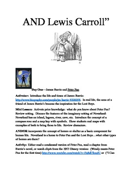 """James Barrie and Lewis Carroll:  """"Meet an Author, Make a Friend for Life"""""""