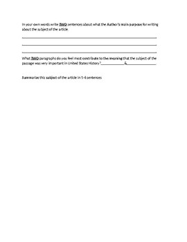 James Bonham Article Biography and Assignment