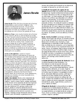 James Bowie (Bilingual)