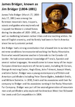 James Bridger Handout