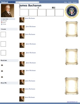 James Buchanan Presidential Fakebook Template
