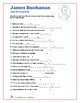 James Buchanan - Word Search and Fill in the Blanks