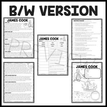 james cook biography reading comprehension worksheet european exploration. Black Bedroom Furniture Sets. Home Design Ideas
