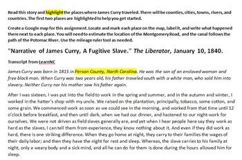 James Curry's Escape