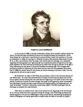 James Fenimore Cooper - Biography