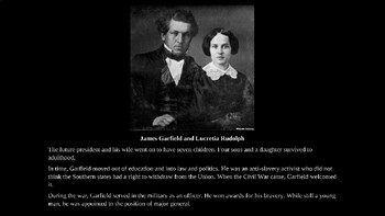 James Garfield PowerPoint with Review Quiz
