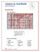 James Garfield - US Presidents Hidden Message Word Search and Fill in the Blanks
