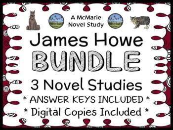 James Howe Bundle - 3 Novel Studies - Bunnicula, Nighty-Nightmare, Howliday Inn