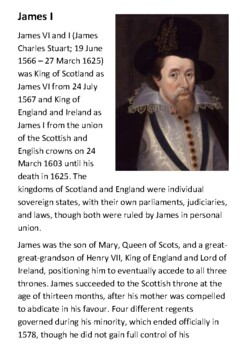 James I Handout