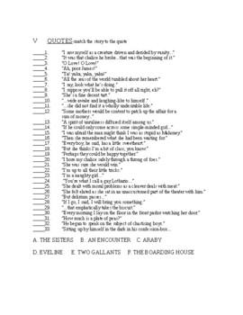 James Joyce's Dubliners Test