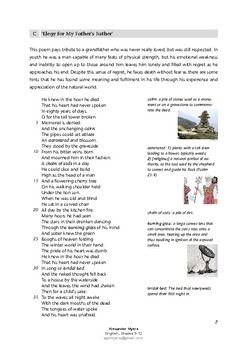 James K Baxter: 'Elegy for My Father's Father' IGCSE Poetry
